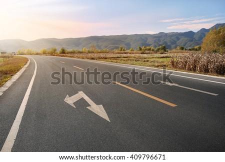 Rural Highway - stock photo