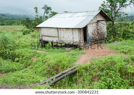 Rural house ,Chiangmai,Thailand - stock photo