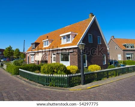 Rural House in Marken, Netherlands - stock photo