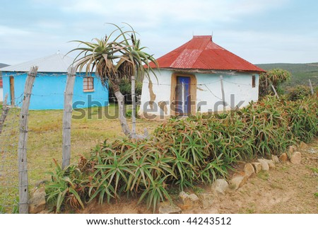Rural Huts, Eastern Cape, South Africa - stock photo