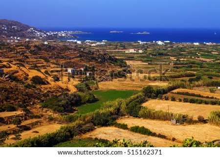 Rural landscape - central part of Naxos island, Greece