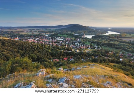 Rural landscape country in Bratislava city - stock photo