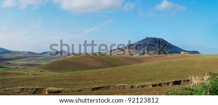 Rural landscape in Sicily, Italy, in the morning