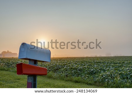 Rural Mailbox - stock photo