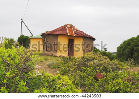 Rural Mud hut, Eastern Cape, South Africa - stock photo