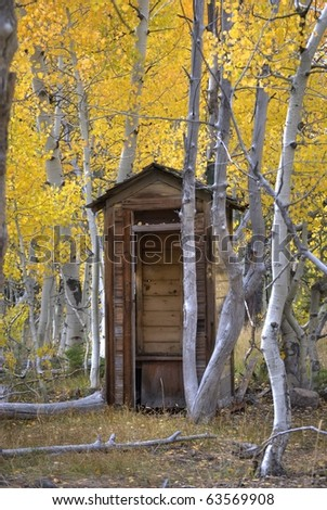Rural outhouse, High Dynamic Range - stock photo