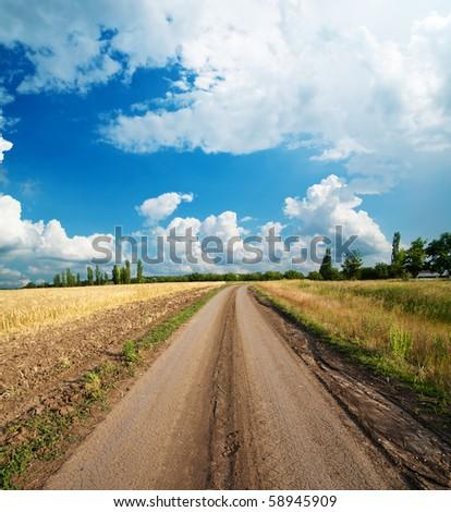 rural road - stock photo