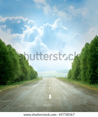 rural road - stock photo