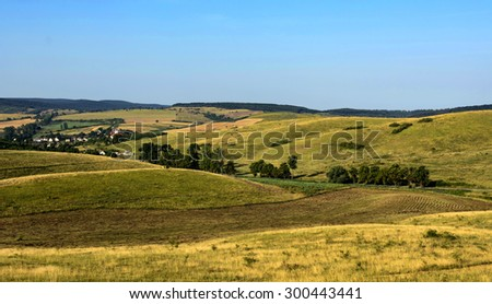 Rural scene in Hungary - stock photo