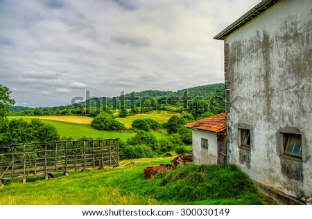 Rural scenery in South West France. - stock photo