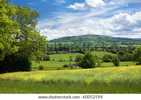 Rural Shropshire, England - stock photo