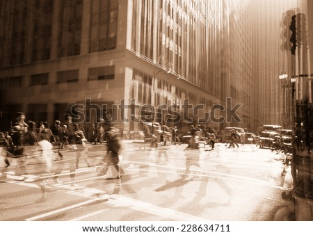Rush Hour conceptual. - stock photo