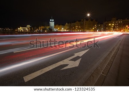 Rush hour in Prague, Czech Republic - stock photo