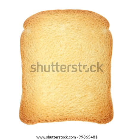 Rusk bread loaf isolated on white, clipping path included - stock photo