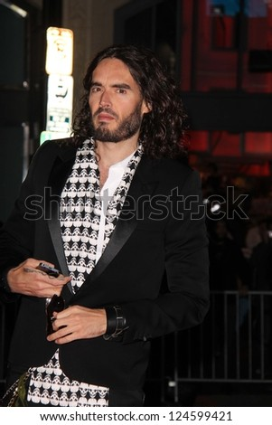 """Russell Brand at the """"Gangster Squad"""" Los Angeles Premiere, Chinese Theater, Hollywood, CA 01-07-13 - stock photo"""