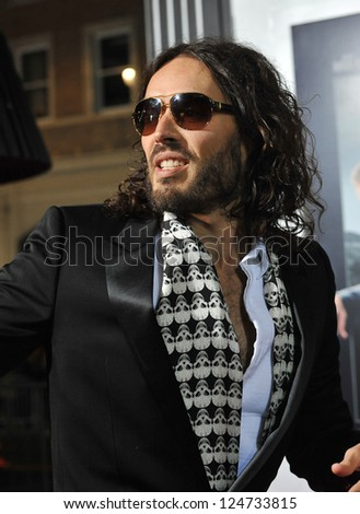 """Russell Brand at the world premiere of """"Gangster Squad"""" at Grauman's Chinese Theatre, Hollywood. January 7, 2013  Los Angeles, CA Picture: Paul Smith - stock photo"""