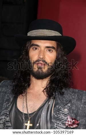"""Russell Brand at the World Premiere of """"Rock of Ages,"""" Chinese Theater, Hollywood, CA 06-08-12 - stock photo"""