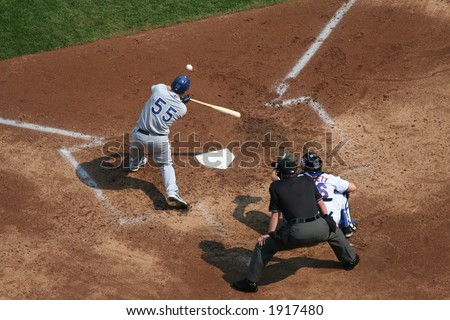 Russell Martin getting a hit - stock photo