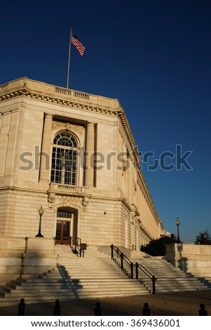 Russell Senate Office Building - Washington DC USA - stock photo