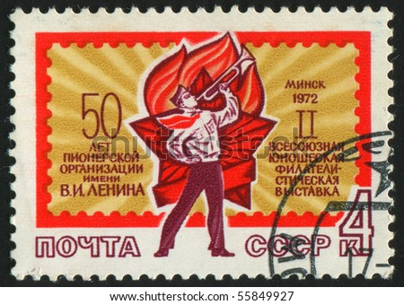 RUSSIA - CIRCA 1972: stamp printed by Russia, shows Pioneer, circa 1972.