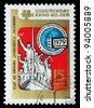 RUSSIA - CIRCA 1979: the stamp printed by Russia shows 60 years to the Soviet cinema, circa 1979 - stock photo