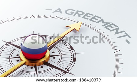 Russia High Resolution Agreement Concept - stock photo