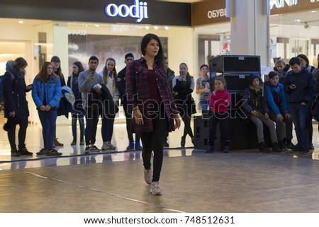 Russia, Ivanovo, October 29, 2017 Modern dance at the Mall, competition