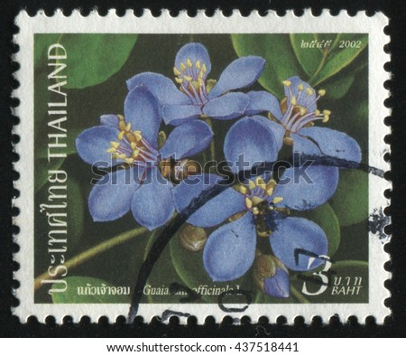 RUSSIA KALININGRAD, 3 JUNE 2016: stamp printed by Thailand shows flower, circa 2002