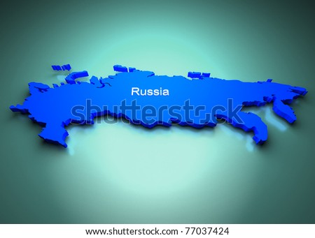 Russia Map - stock photo