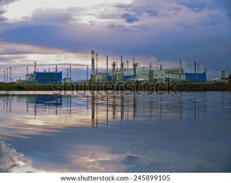 RUSSIA, NADYM -  September 4, 2007: Equipment of corporation GAZPROM in Novy Urengoy, YANAO, September 4, 2007 in Nadym, Russia.