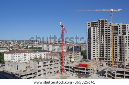 RUSSIA, NOVOROSSIYSK - MAY 9, 2014:Views of Novorossiysk on a sunny day