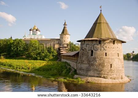 Russia. Pskov. Kremlin - stock photo