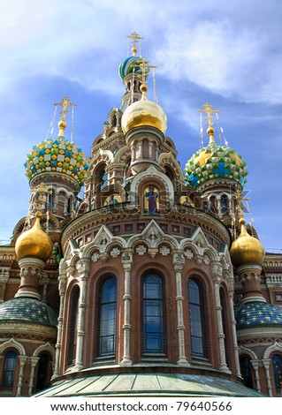 Russia. St.Petersburg. Temple Spas-na-krovi - stock photo