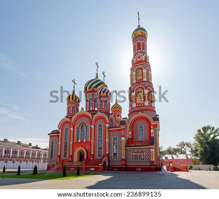 Russia. Tambov city. Cathedral of the Ascension in Ascension Monastery - stock photo