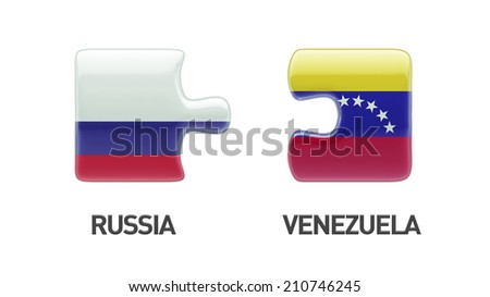Russia Venezuela High Resolution Puzzle Concept