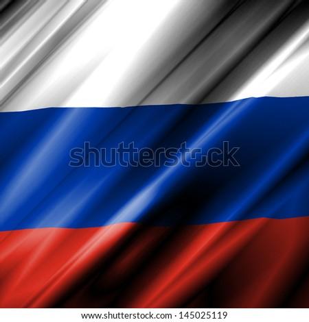 Russia Waving Flag - stock photo