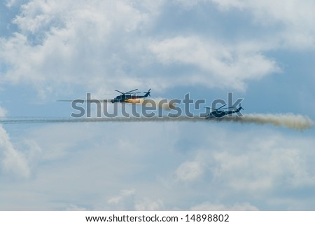 Russian air force attack with missile rocket - stock photo
