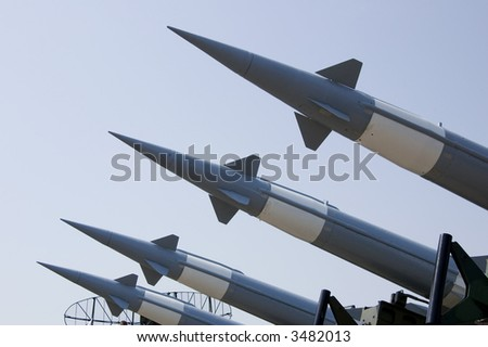 "russian anti aircraft missiles ""pechora"" - stock photo"