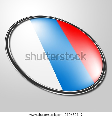 Russian Badge Indicating National Flag And Destination