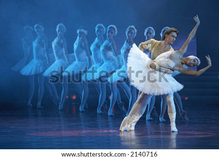 Russian ballet in Kremlin Palace (Moscow) - stock photo