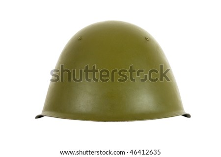 Russian battle helmet - stock photo