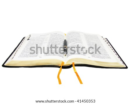 Russian Bible - stock photo