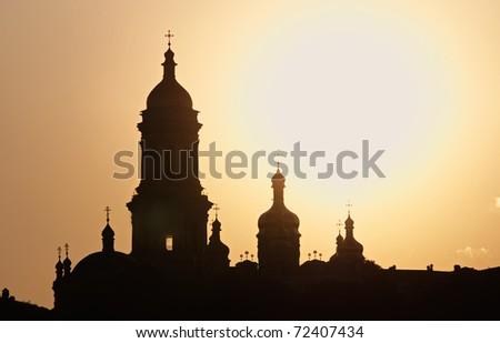 Russian church - stock photo