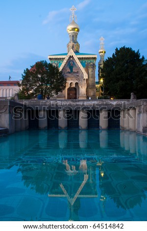 Darmstadt Swimming Pool church darmstadt stock photo royalty free 64514842