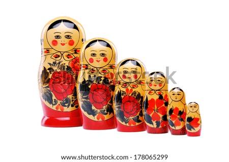 russian doll - stock photo