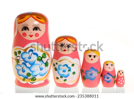 russian doll - stock photo