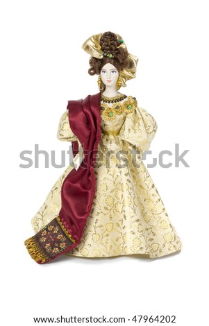 russian doll with traditional clothes