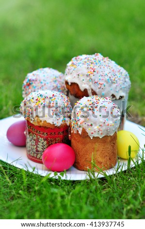 Russian Easter Bread - Kulich - stock photo
