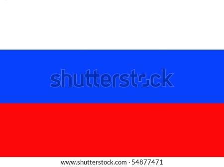 Russian Flag - stock photo