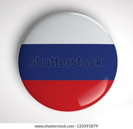 Russian Flag icon - stock photo
